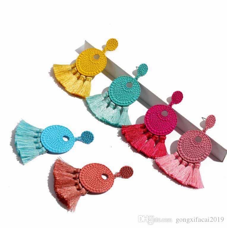 Europa Stati Uniti popolare retrò Settore orecchini della nappa di personalità femminile esagerati orecchini temperamento Accessori di moda regalo delle donne