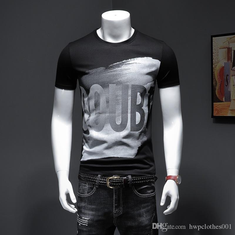 Camiseta del verano con la letra de montaña de nieve Hombres Tops Ropa de cuello redondo manga corta ocasionales de las mujeres smens diseño de lujo camisetas