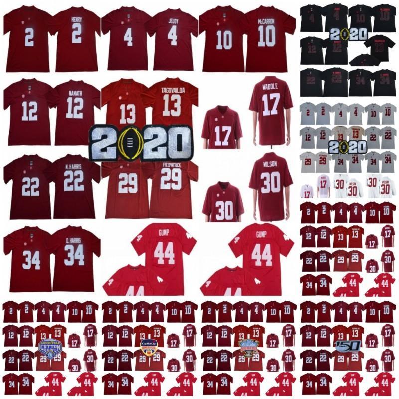 NCAA Alabama Crimson Tide Football 13 Tua Tagovailoa 4 Джерри Чеуды 17 Jaylen Waddle Burts Ridley Najee Harris College 150-х чемпионы Джерси