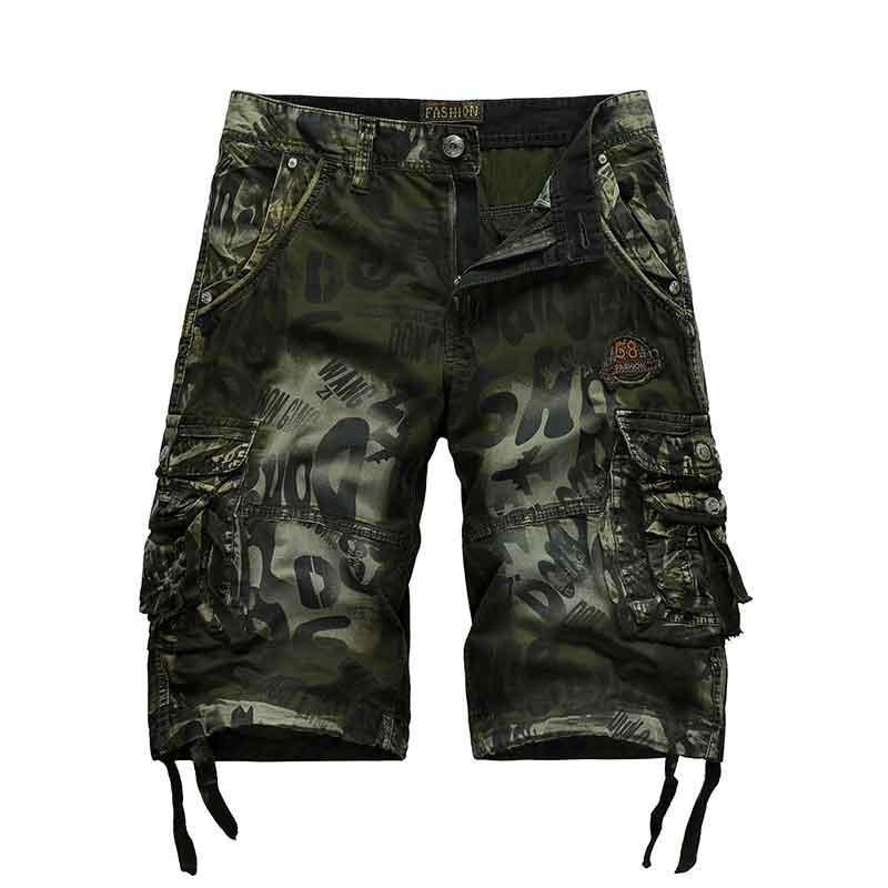 Casual Pantaloni Uomo 20ss nuovo modo di sport Cargo Shorts Estate Lotta tema popolare Stampa Oversize Pantaloni Uomo 3-colore selezionato