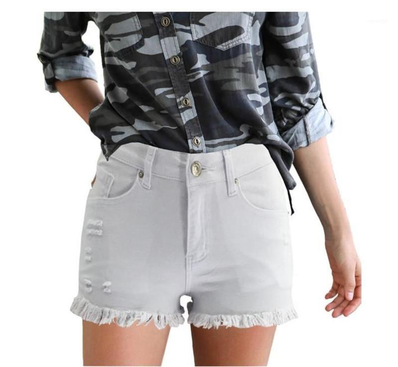 Лето Короткие штаны кисточкой конфеты цвета лета женщин Шорты Solid Colors Bodysuits Горячие Stretch Тощий лето женщин конструктора