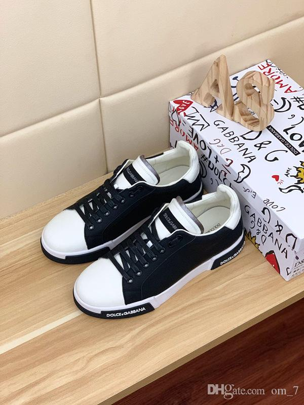 2020o moda alfabeto de cuero de alta gama bajo-top de las zapatillas de deporte planas al aire libre, de alta calidad ocasional salvaje zapatos de los hombres de moda, tamaño: 38-45