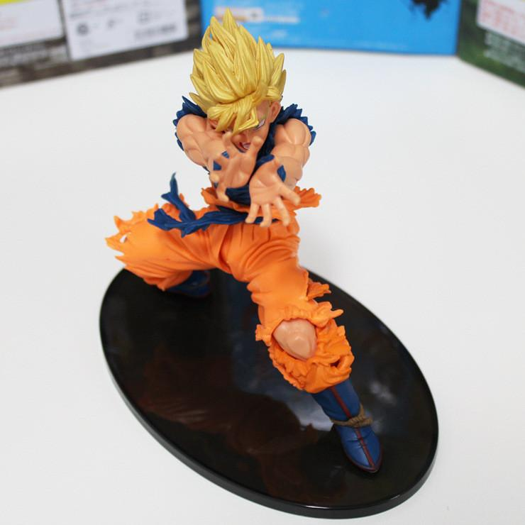 YENI Sıcak 1 adet 18 cm Dragon Ball Z Süper Saiyan KAMEHAMEHA Oğlu Goku Kakarotto Goku PVC Action Figure oyuncaklar KUTUSU ile Noel hediyesi oyuncak