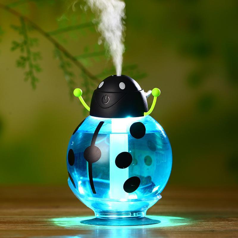 Новый Творческий Мини Портативный ультразвуковой Mute Жуки Увлажнитель воздуха Диффузор Mist Maker ABS бутылки LED свет для автомобиля домашнего офиса