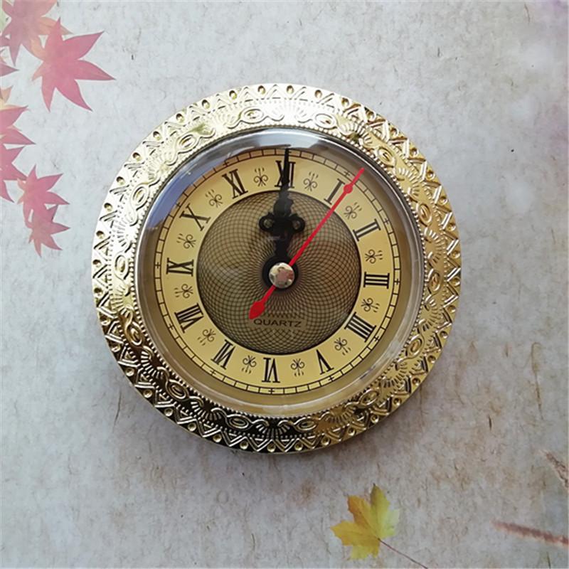 Vente en gros 5 pièces Gold Rim Old Horloge d'horloge de batterie Mouvement Diamètre 92mm DIY DIY Outils de réparation