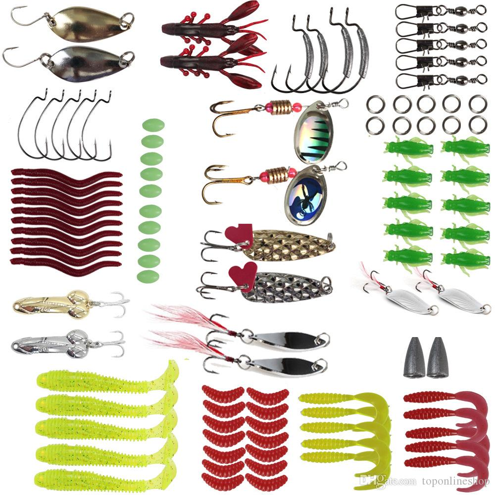 바다 미끼 장식 조각 미노 미끼 잉어 물고기 스피너 세트 2,019 낚시 미끼 105Pcs 다기능 미끼