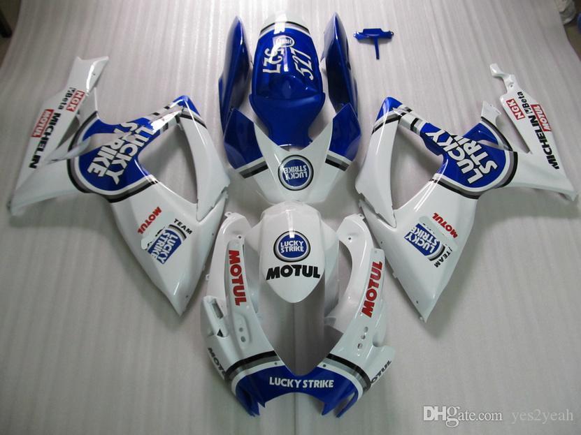 moule injection kit de carénages pour 2006 2007 SUZUKI 750 GSXR600 GSXR600 GSXR750 K6 06 07 GSXR 600 GSXR 750 Carénages bleu blanc gg88