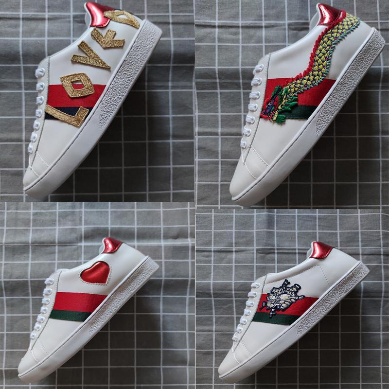 Nouveau cuir chaussures de créateurs de mode luxe d'ACE et des femmes des hommes baskets bon marché mieux chaussures plates cadeaux confortables chaussures de sport