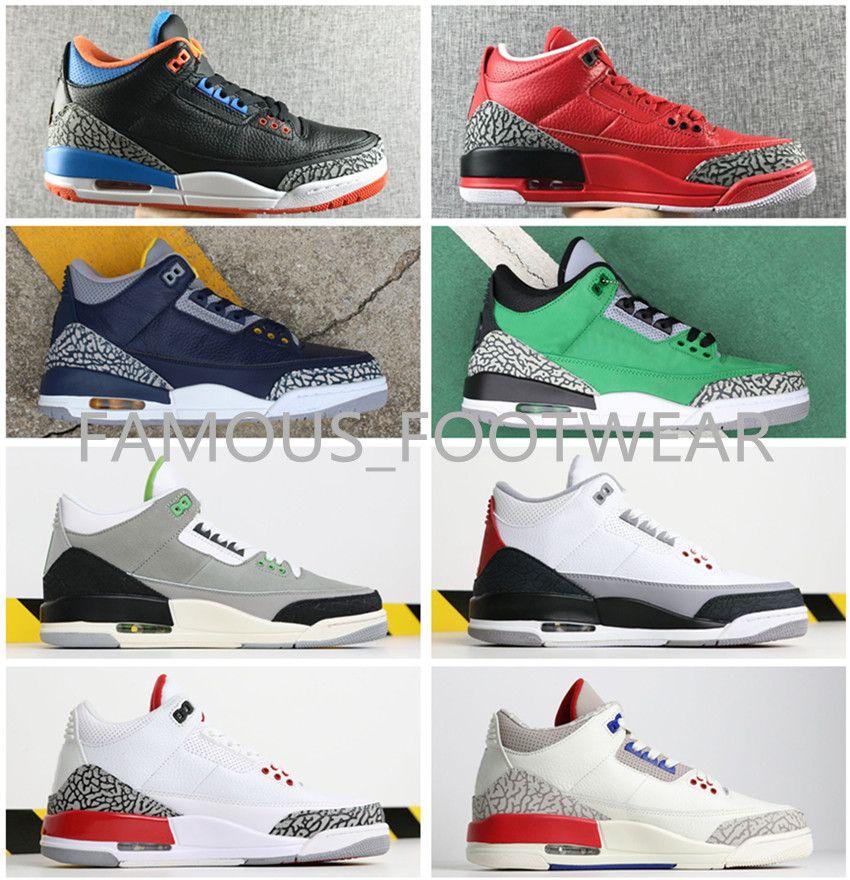 Zapatos de baloncesto de alta calidad J 3 Mocha Cemento negro Pato de Oregon Vuelo internacional Deporte Azul Triple negro blanco UNC OKC Michigan zapatos