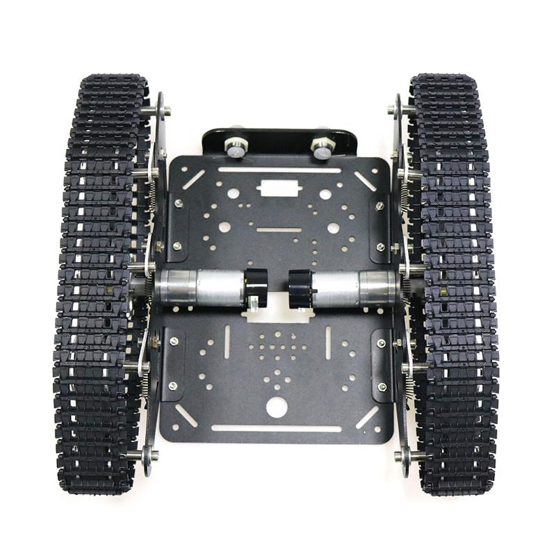 TS300 Shock Absorption Robot Tank Chassis RC Tank Model Tracked Car With Dual DC 12V Motor+Plastic Tracks+Suspension Parts