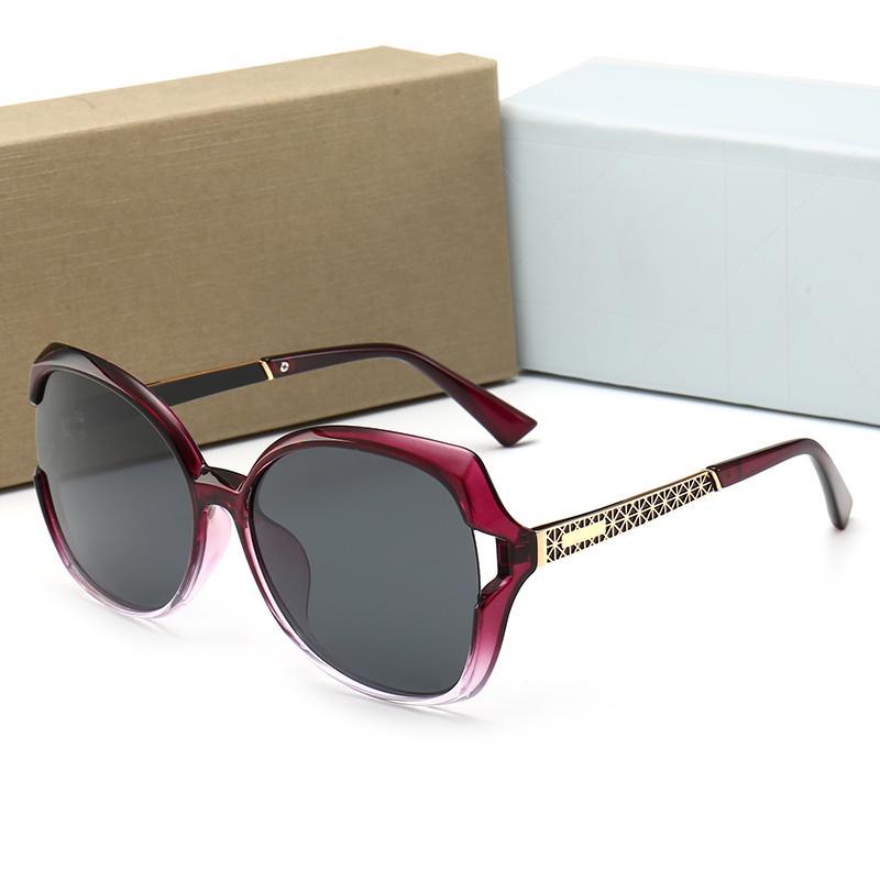Occhiali da sole BOX DE GRIGIO DE GOLD GOLD Fashion Fashion Luxury-Designer Brand Gafas Sunglasses Sol Sonnenbrille con gradiente duro ECAPJ