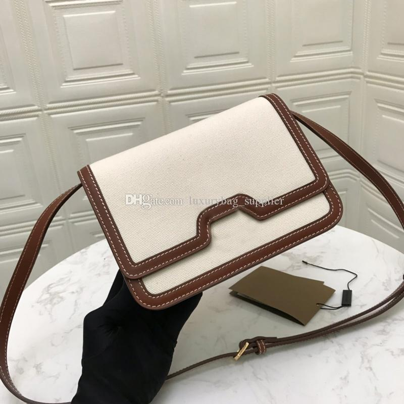 패션 가방 지갑 메신저 가방 뜨거운 판매 고품질 캔버스 가죽 잠금 가방 더블 스트랩 일반 컬러 크로스 바디 무료 배송