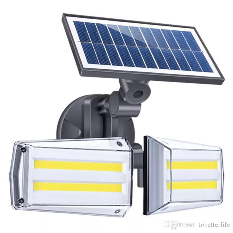 Solar Light 42LED 80COB Wall Lamp Outdoor Lighting Waterproof Radar Sensor Solar Powered light for Garden Street Yard 3 Lighting modes