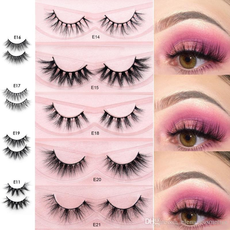 2019 New styles 3D mink eyelashes E series cruety free mink lashes full volume real mink eyelashes for make up