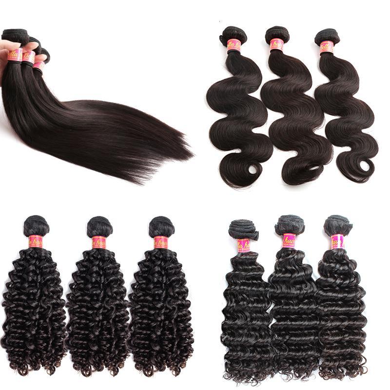 Bella Hair® 100% Remy Virgin Brazilian Hair Bundles Unprocessed Virgin Dyeable Bleachable Human Hair Extensions 3pcs/lot Brazilian Hair