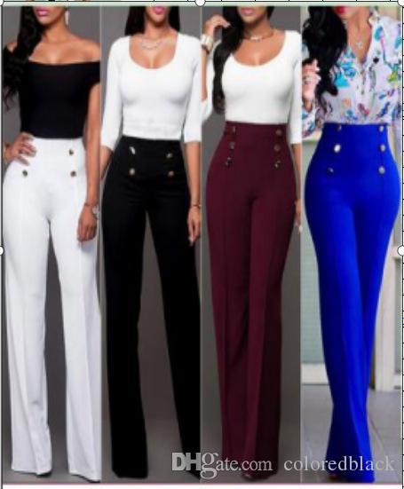 Женщины Брюки Новая мода Женская профессиональная карьера Работа Брюки повседневные Комфортные брюки весна осень брюк для дам