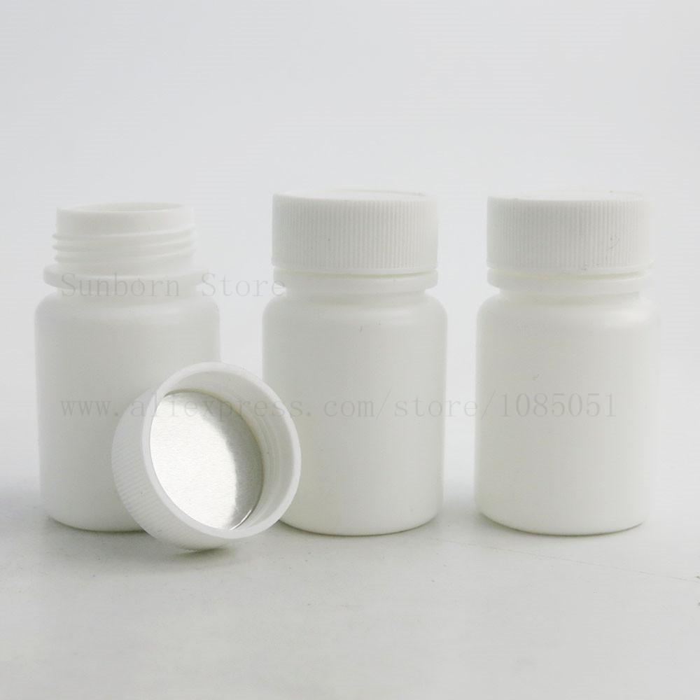 500pcs Taşınabilir Plastik Tıp Hap Şişe Konteyner İçin Hastanesi Toz Kimyasal Tablet Numune Depolama boşaltın 30ml