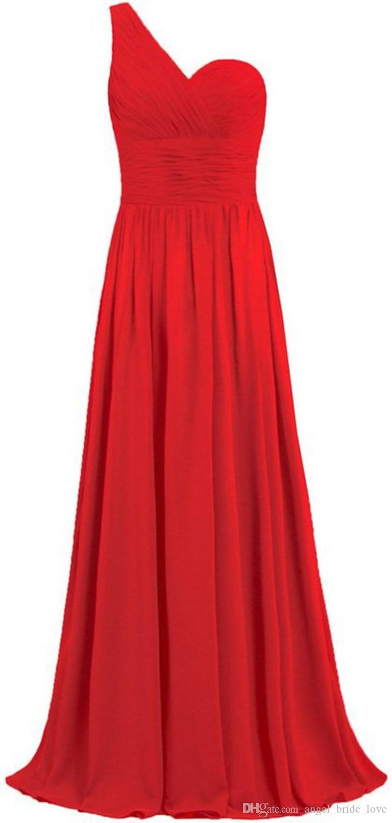2019 Seksi Moda Tek Omuz PLİSE Lace Up şifon Artı boyutu Örgün Akşam Ünlü Elbise BE59 ile A-Line Parti Gowns