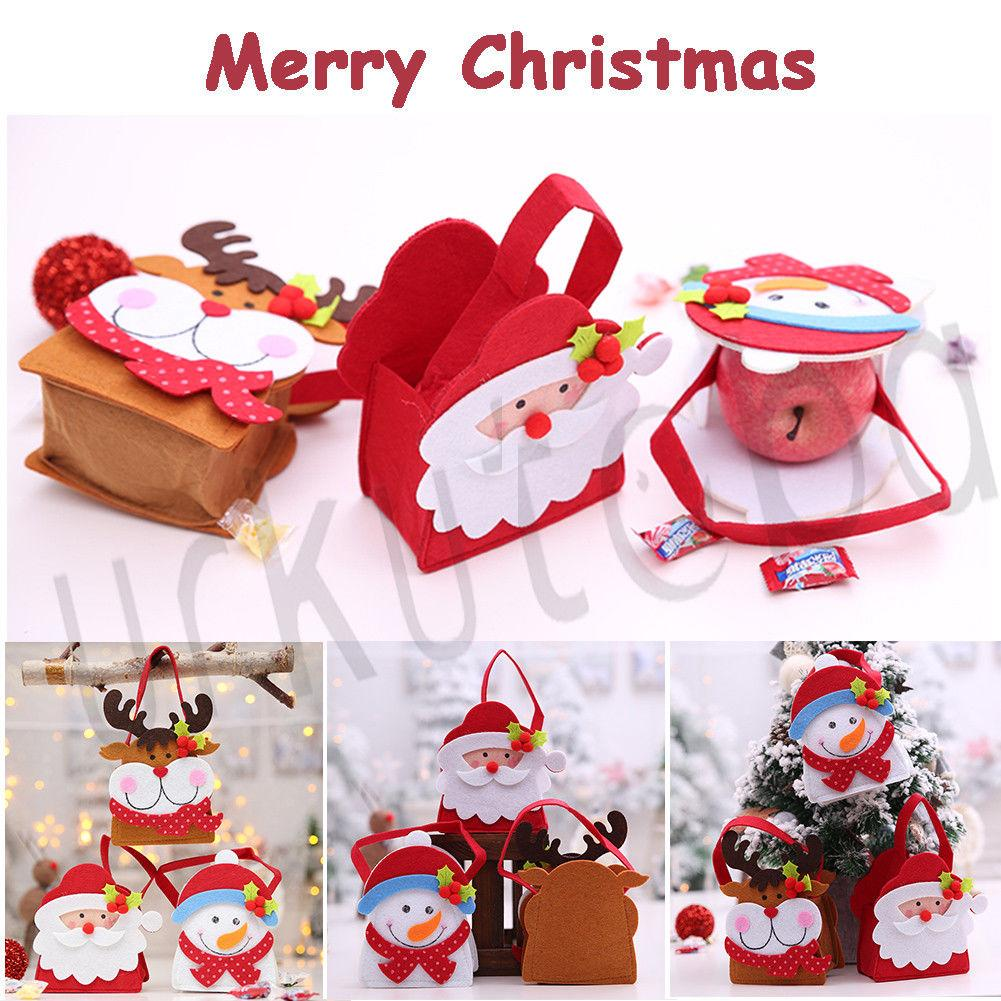 Natal Santa da forma Pant Treat Bag para Candy Stocking enchimento Xmas Decor presente
