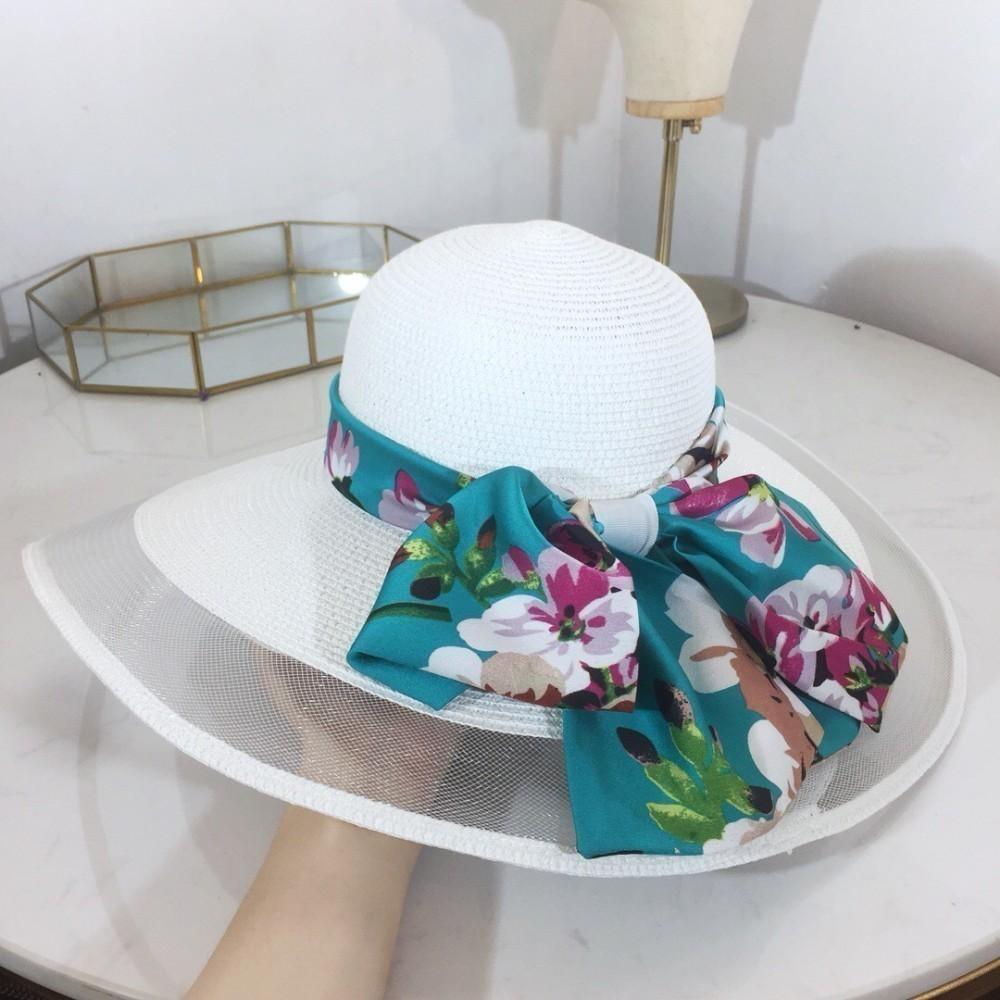 New Trend Männer und Frauen arbeiten atmungsaktive Strand Organza breitkrempigen Kirche Hochzeit Hut