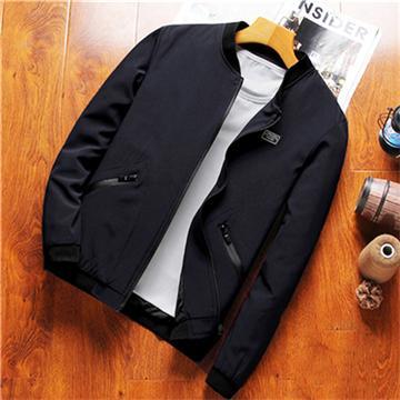 Мужская Бейсбол воротник куртки мужские случайные Осеннее пальто моды Тонкий Подходит Большой размер M ~ 8XL марка одежды SA755