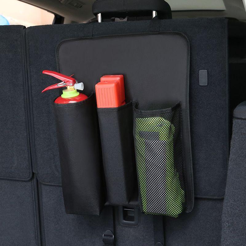 Araç Yangın Söndürme Tripod Reflektör Çantası Çeşitli Saklama Poşetleri Araç Evrensel Çanta Katlama Trunk storag