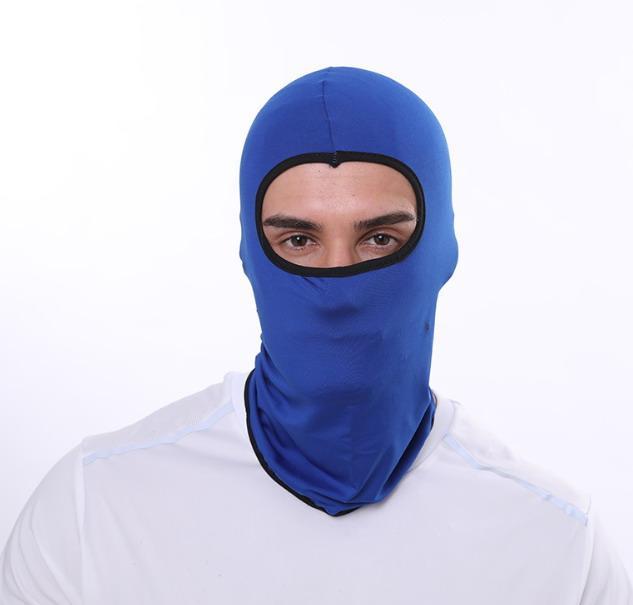 Máscara al aire libre montando la cara llena de ventilación Sombrero del pasamontañas de la motocicleta del casquillo protector solar elástico mágica Pañuelos tubo venda de la bufanda del sombrero Hijab