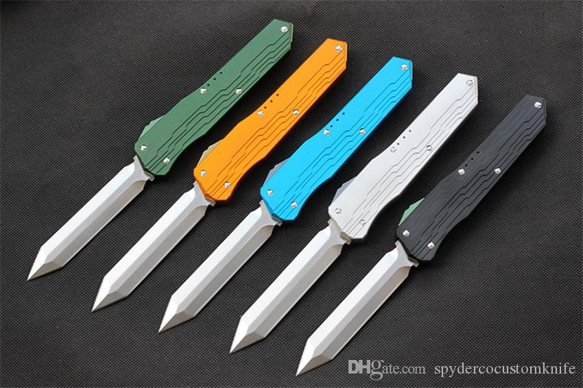 High quality VESPA Version folding Knife Blade:M390 Handle:7075Aluminum+TC4,Outdoor camping survival knives EDC tool,Free shipping