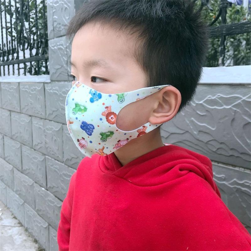 Animal Bambino Face Stampa Mascherine ghiaccio piegante di seta Anti Spittle polvere e sabbia Bocca Maschere Parasole Proteggere respiratori traspirante 1 5NQ E19