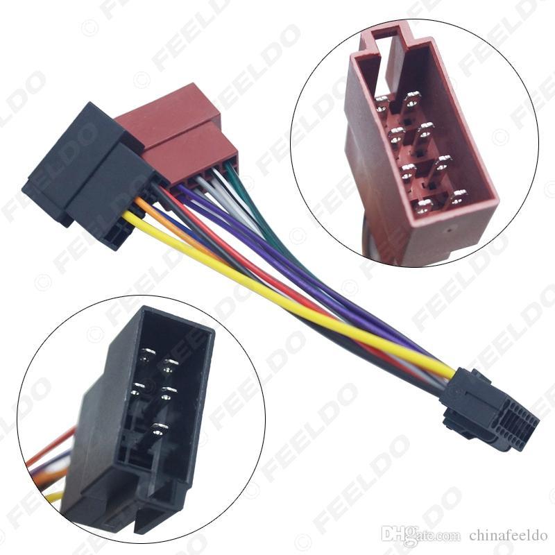 vendita all'ingrosso Car Stereo Radio 16-Pin Adattatore PI100 ISO cablaggio per Keywood 2003-on Audio 2-testa del cavo connettore Speaker Wire # 5410