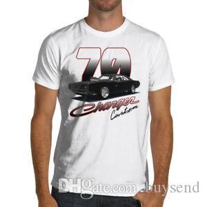 1970 T-shirt personnalisé Chargeur rapide Furious Muscle Car Dodge