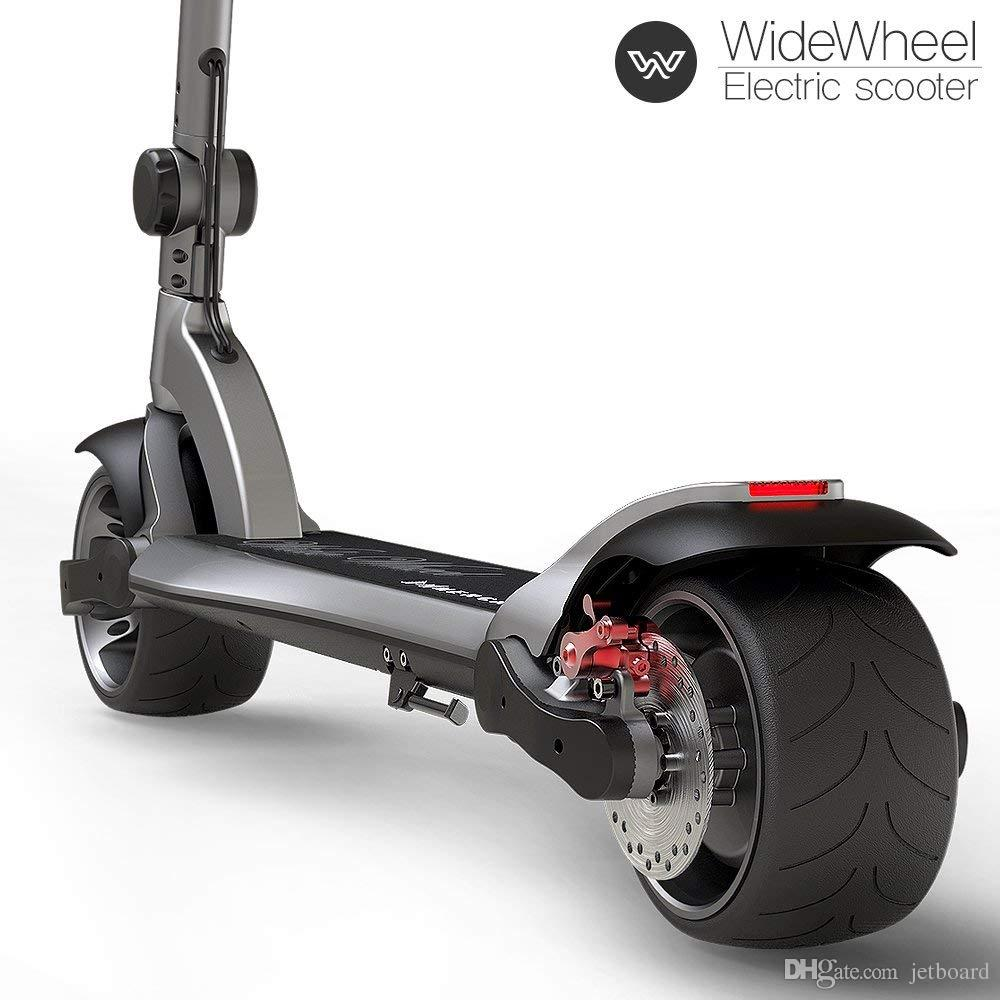 Electric Motor Scooter >> 2019 Vat Free Free Tax Widewheel Electric Scooter 2019 Powerful Electric Scooter Dual Motor Scooter Electric Kick Scooter 634wh Adult Scooters From