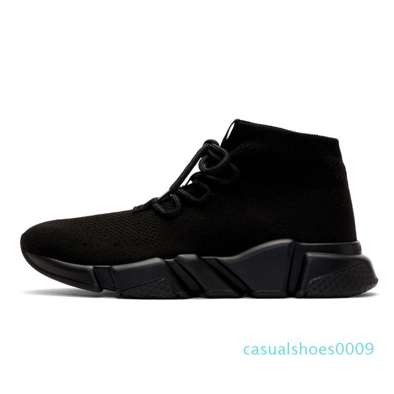 cheville formateur chaussures chaussette vitesse design décontracté à lacets Flat Triple Noir White Glitter Runner plate-forme pour hommes femmes sport Chaussures de sport 36-45 C09