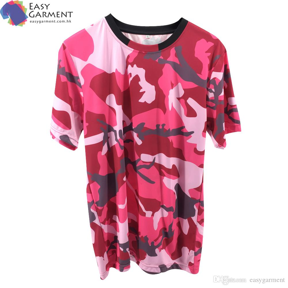 8c1cbddb OEM and ODM Streetswear Full Sublimation Printing camo printed cotton  polyester short sleeve t-shirt with logo