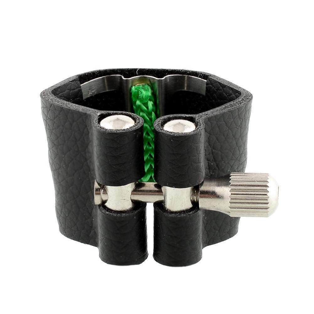 Marque de haute qualité en cuir ligatures Embouchure Fastener w / Fattener Pour Saxophone Alto standard Drop Shipping