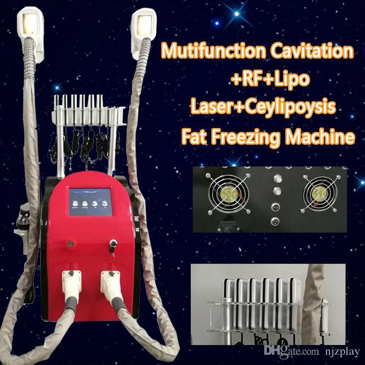 5 EN 1 máquinas de criolipólisis de congelación de grasa lipo láser cavitación RF cuerpo adelgazante crio lipólisis máquinas de pérdida de peso uso de spa