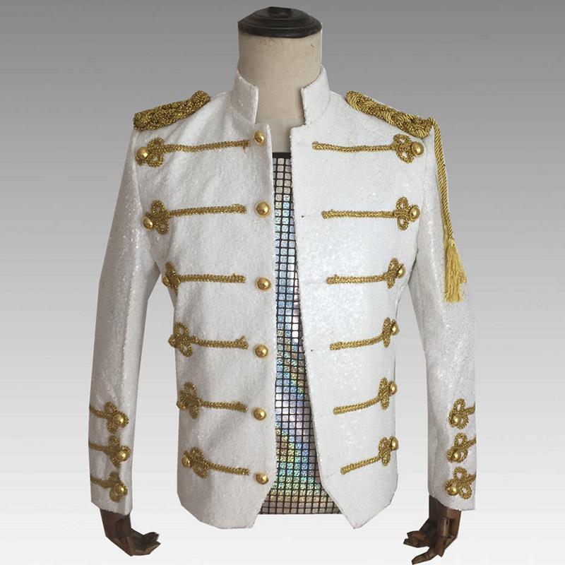 Uniforme Hommes Vêtements formel Parti célébration scène Sequin Hommes Costume Slim Fit Blazer Drama Performance Wear