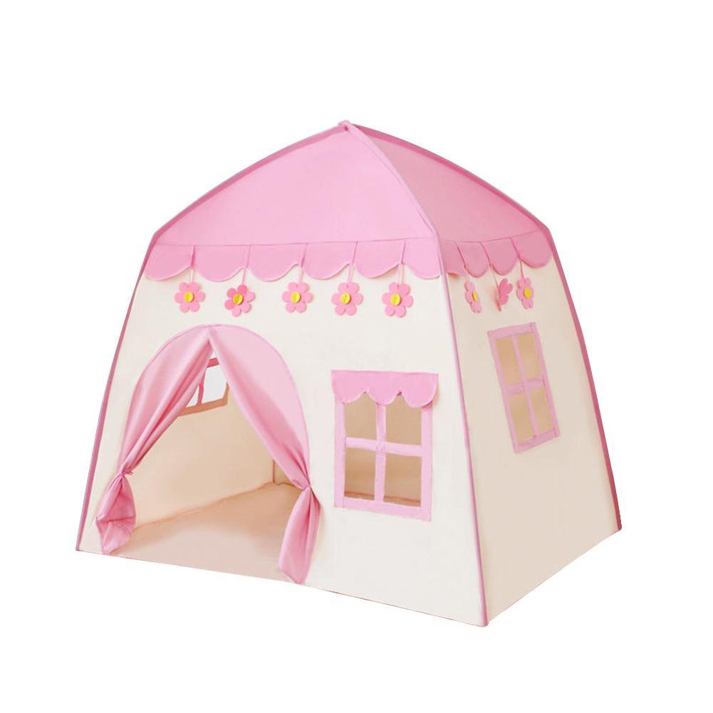 실내, 실외 사랑스러운 정원 휴대용 어린이 극장 공주 성 생일 선물 대형 천막 게임 플레이 텐트 폴리 에스테르