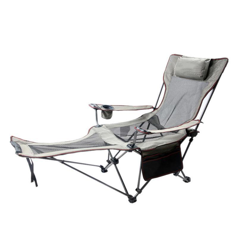 Angeln Lay Down Stuhl tragbare Falten Liegestühle Taschenflasche Sitz Camping 150kg Movable Breathable Net Stühle mit Tasche