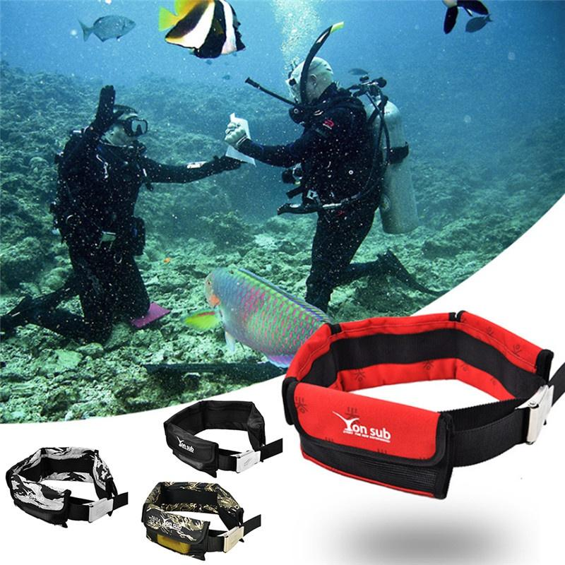 Scuba Adjustable 4/3 Pocket Diving Weight Belt With Stainless Steel Buckle Water Sport Equipment New