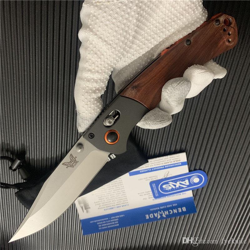 """2 Стиль Benchmade BM15080 Crooked River Складной 4,00"""" S30V Клип точки лезвия, Dymondwood ручки с алюминиевыми BM 10580 НОЖ 940 BM810 нож"""