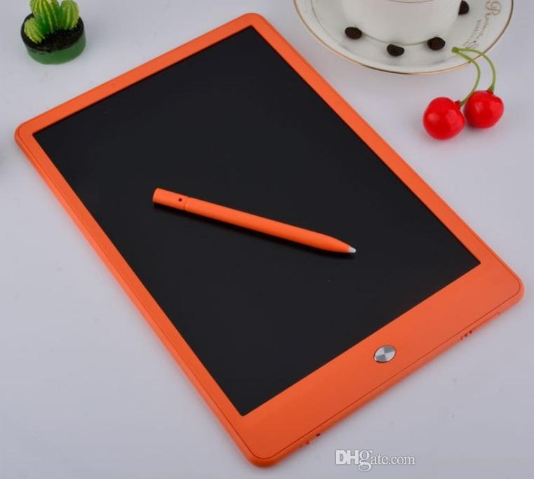 TOP NEW LCD 10 بوصة الكتابة اللوحي شاشات الكريستال السائل الكتابة مجلس سبورة الكتابة اليدوية وسادات بلا أوراق المفكرة لوح مذكرة مع ترقية القلم DHL