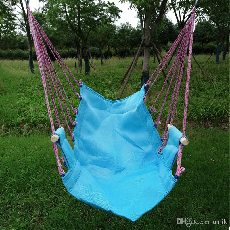 Hammock Hanging Rope Chair Swing Chair Seat w// 2 Pillow Garden Travel Outdoor US
