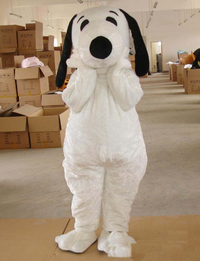2019 fabbrica caldo EPE adulto di formato Spedizione Snoopy cane del costume della mascotte di Halloween Chirastmas partito vestito operato libero