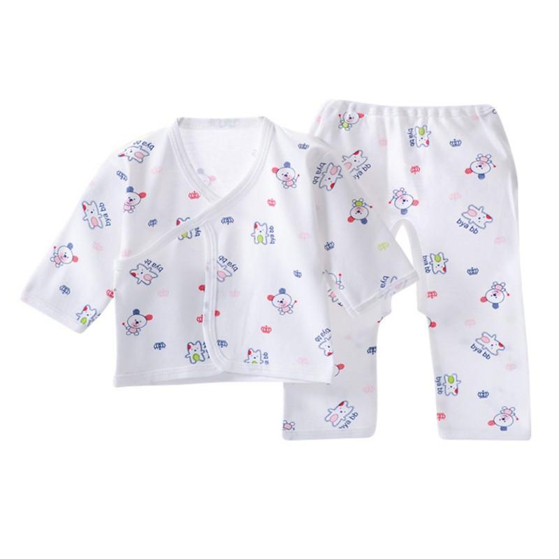 Infantil para bebés de algodón de la ropa interior del modelo de la ropa de noche Niño Niña transpirable animal de la historieta Equipos Pijama Infantil pijamas ropa de los niños