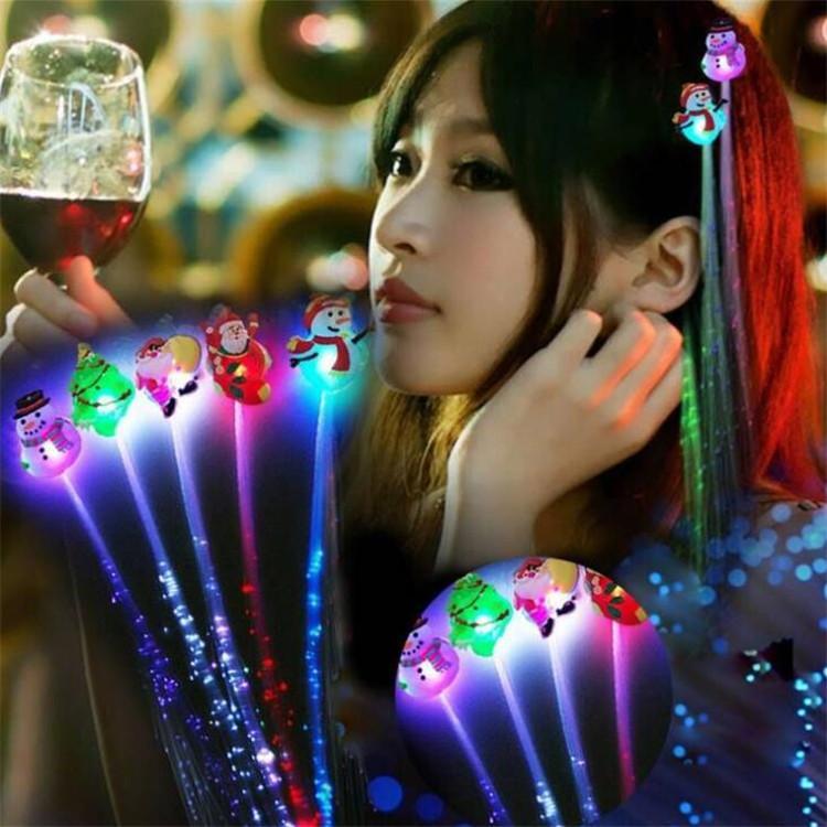 Suministros de fiesta Props Flash LED Fibra Pigtail Bar de Navidad KTV Luminoso trenzado Niños Like Toys Q1068