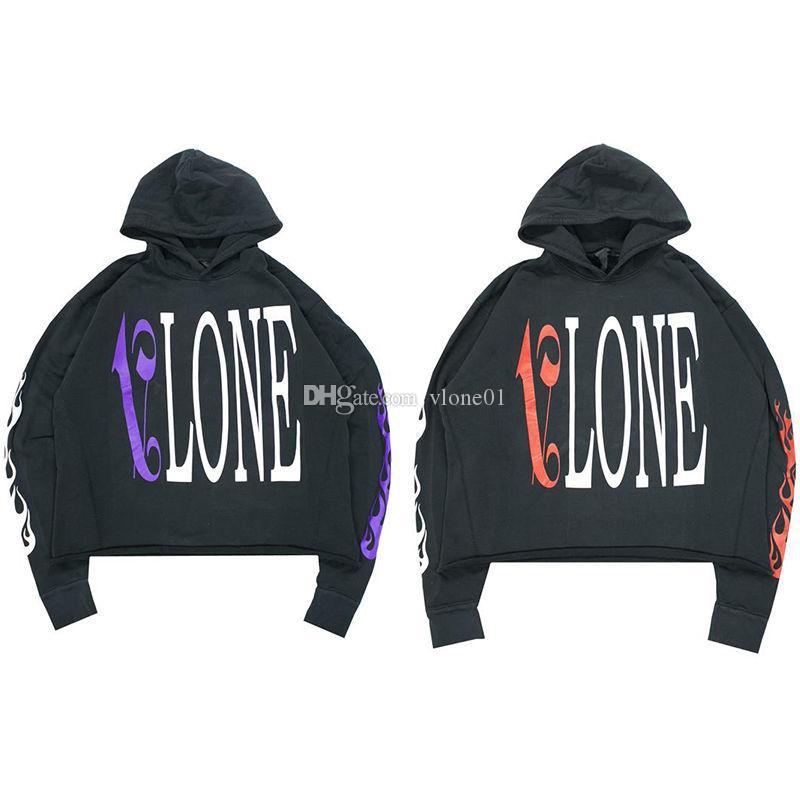 Vlone Hoodie Hip Hop Hoodie-Qualitäts-Schwarz Herren Stylist Hoodies Männer Frauen Sweatshirts Größe S-XL