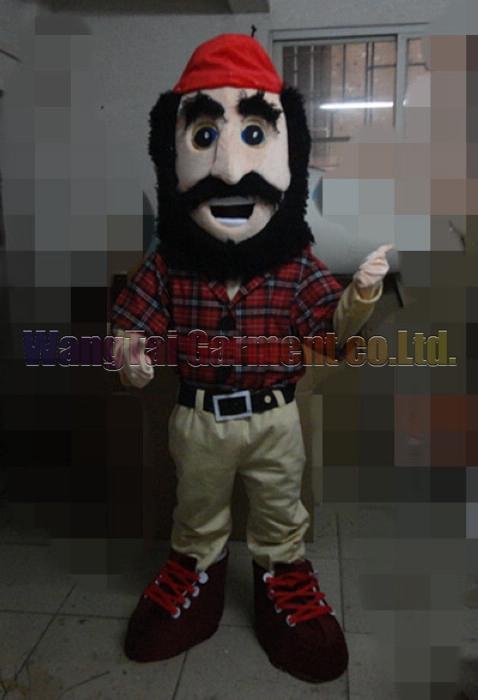 New Timber Maskottchen Kostüm Erstklassig deluxe Zeichentrickfigur Kostüm Timbermaskottchenklage Abendkleid Partei Karneval freies Verschiffen