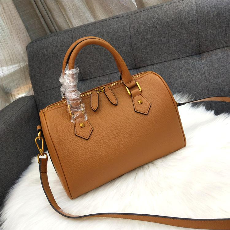 Excellent2019 Leather Genuine Woman Tide Head Layer Cowhide Package Boston Single Shoulder Portable Ma'am Bag