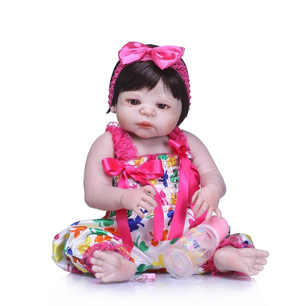 Bebe RebornLifelike Doll Reborn Full Vinyl Babies Doll For Girls 57CM Realistic Soft Alive Reborn Baby Doll For Kids Playmate